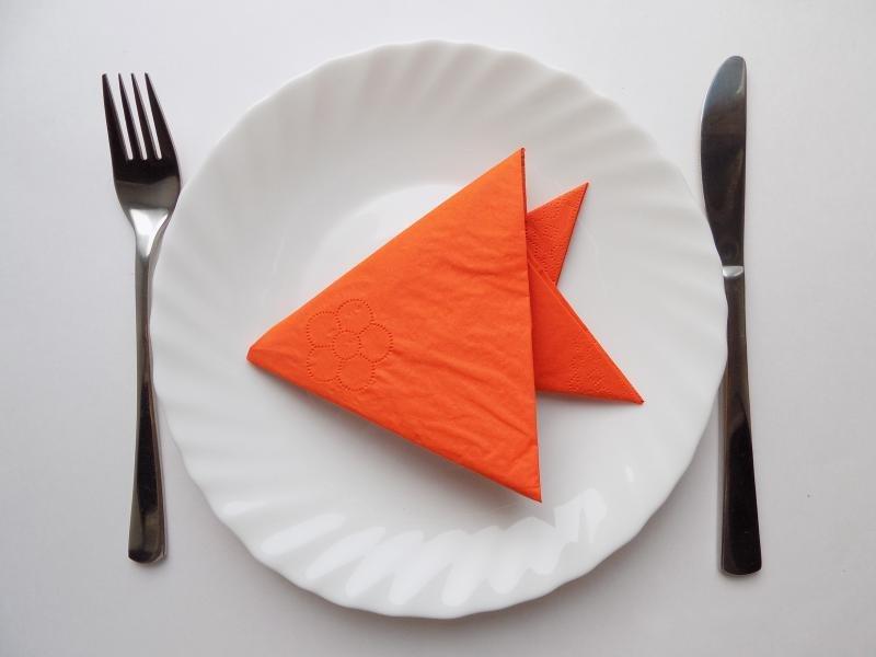 оригами из салфеток рыба