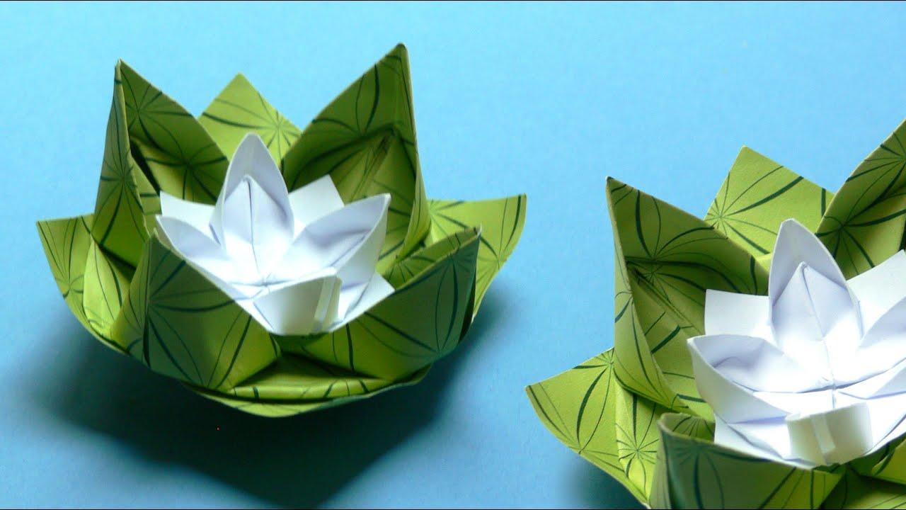 оригами лилия кувшинка фото