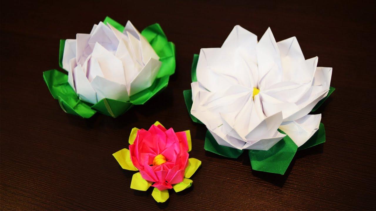 оригами лилия кувшинка
