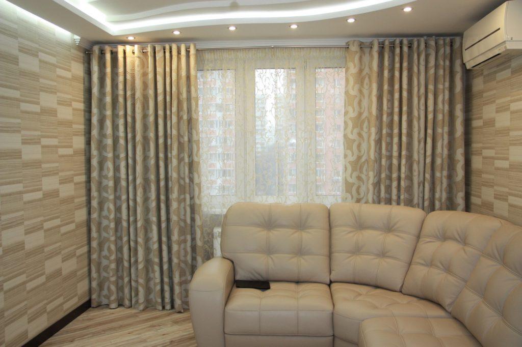 плотные шторы дизайн интерьера