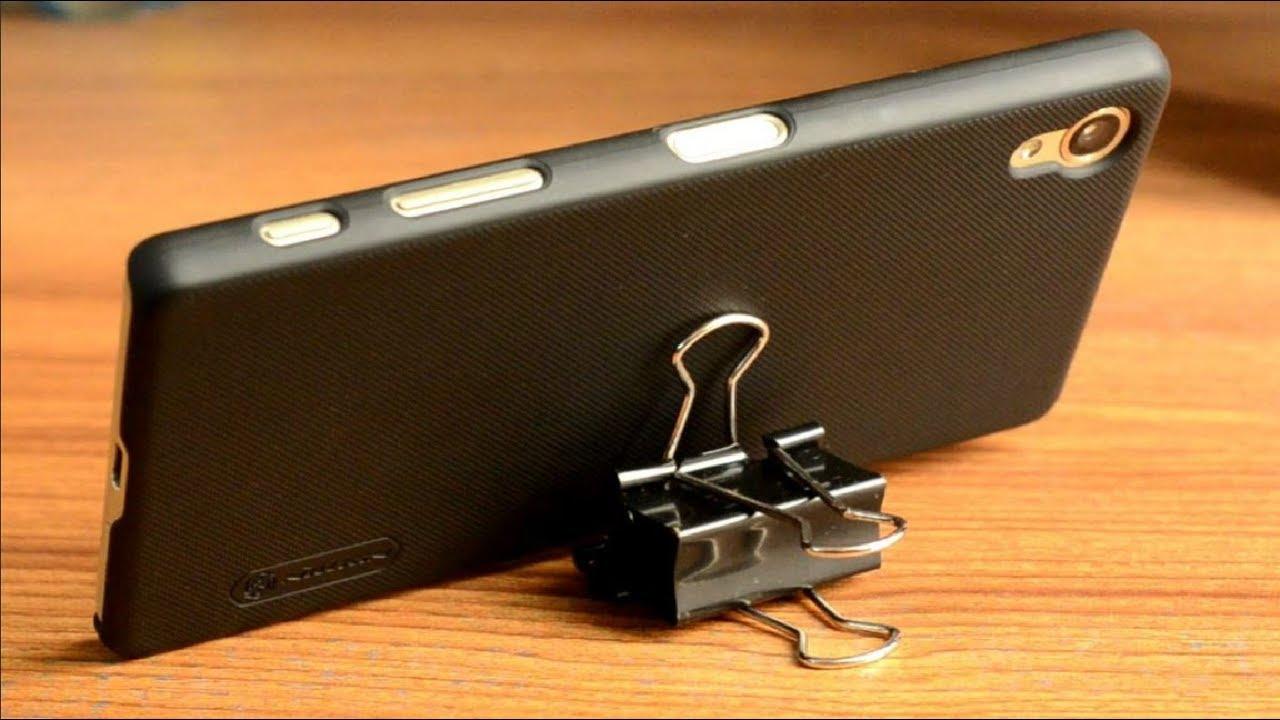 подставка для телефона из биндеров