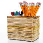 подставка для карандашей декор