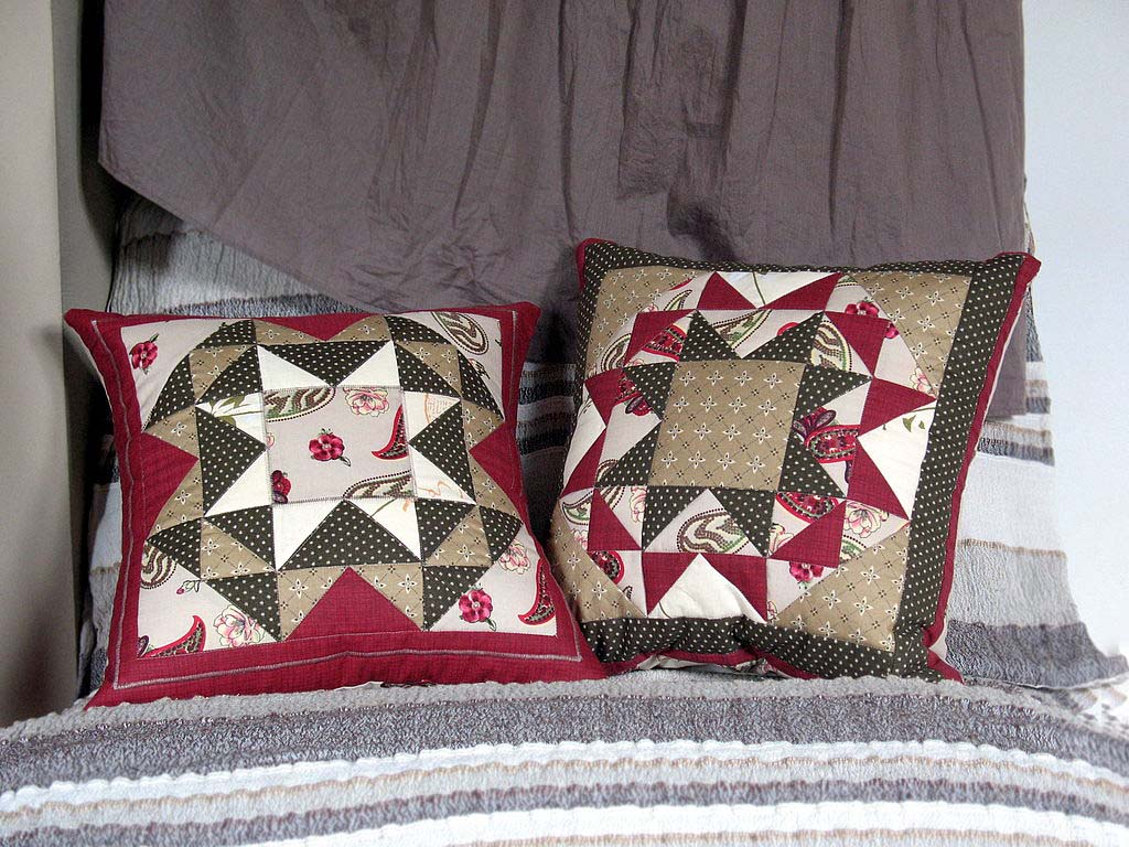 подушки в стиле пэчворк
