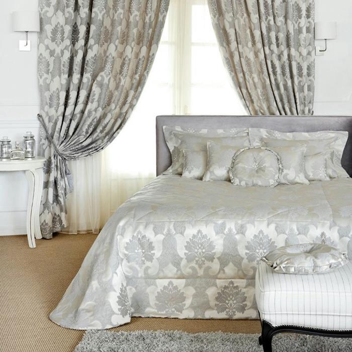 портьеры из жаккарда для спальни