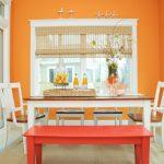 Бамбуковые шторы в обеденной зоне кухни