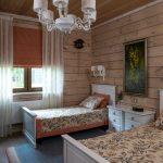 Детская спальня в деревянном доме