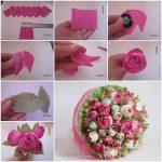 розы из бумажных салфеток фото