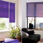 Рулонные шторы двух типов для одной комнаты