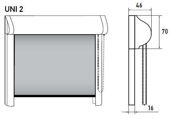 Рулонные шторы UNI 2