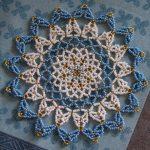 салфетка из бисера декор фото