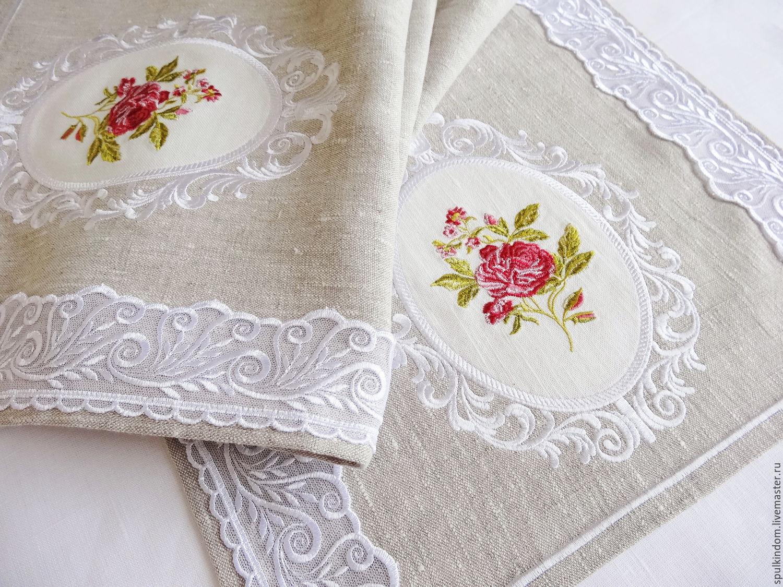 тканевые салфетки с вышивкой
