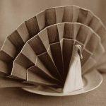 сервировка стола салфетками оформление