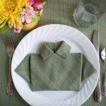 сервировка стола салфетками оригами дизайн идеи