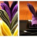 сервировка стола салфетками оригами идеи дизайн