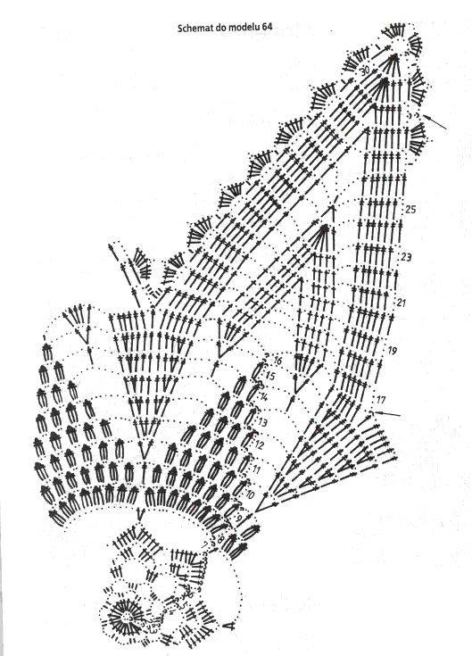 схема вязания салфетки фото