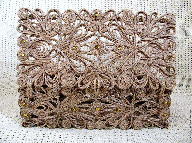 шкатулка из джута декор фото