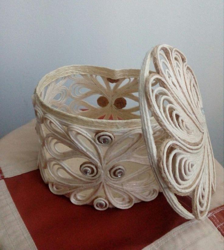 шкатулка из джута фото декора