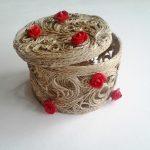 шкатулка из джута своими руками декорированная
