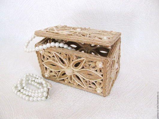 шкатулка из джута своими руками в подарок