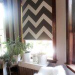 Полотно рулонной шторы с геометрическим принтом