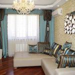 шторы на потолочном карнизе для гостиной