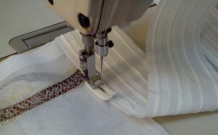 пришивание шторных лент