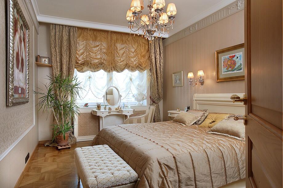 короткие шторы до подоконника в спальню оформление