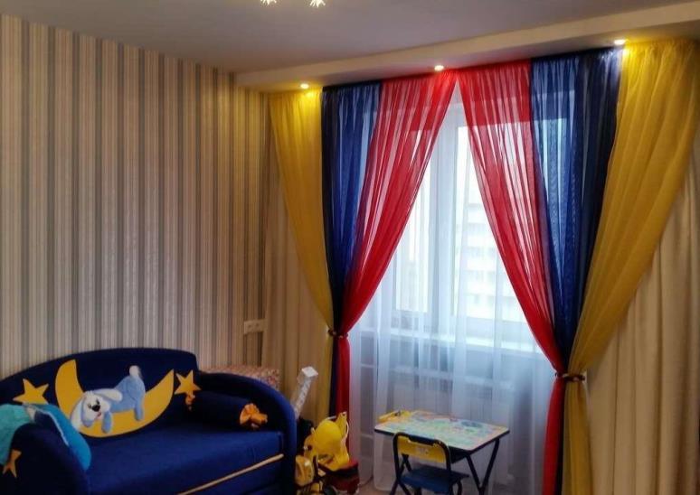 шторы из вуали детская