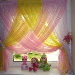 шторы из вуали в детской