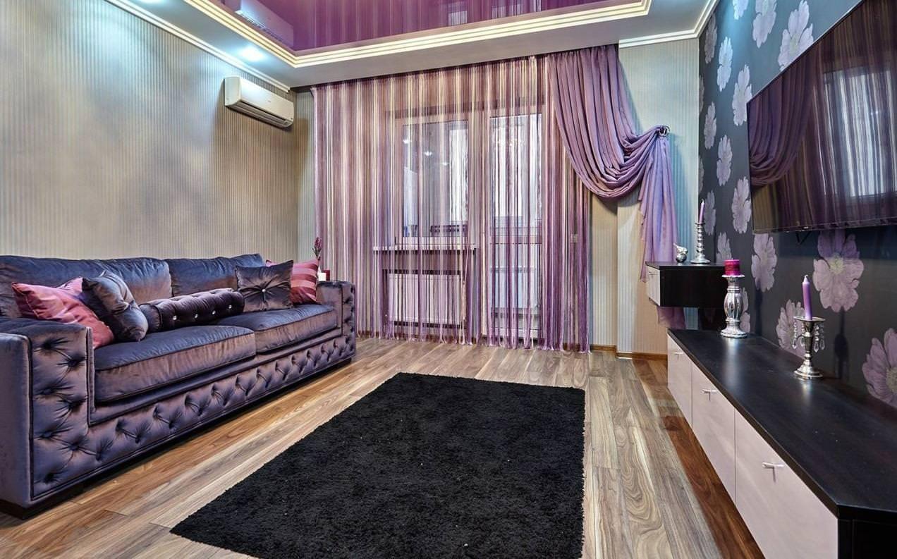 шторы в современной гостиной интерьер фото