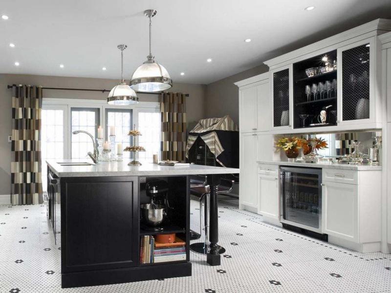 стильные шторы на кухне