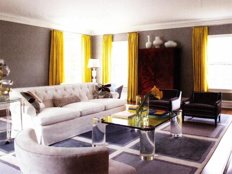 шторы к серым обоям дизайн интерьера