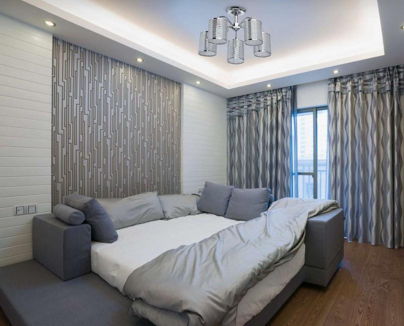 шторы к серым обоям оформление интерьера