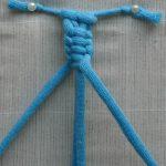 Фото пошагового процесса плетения шторы из веревок