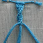 Фото диагонального плетения цепочки из тонких веревок