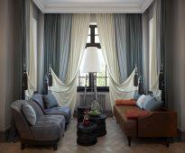 современная классика шторы дизайн интерьера