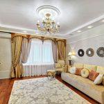 современная классика шторы в гостиную