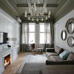 современные шторы в гостиную идеи интерьер