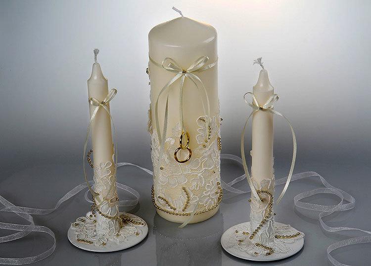 свадебные свечи декор дизайн