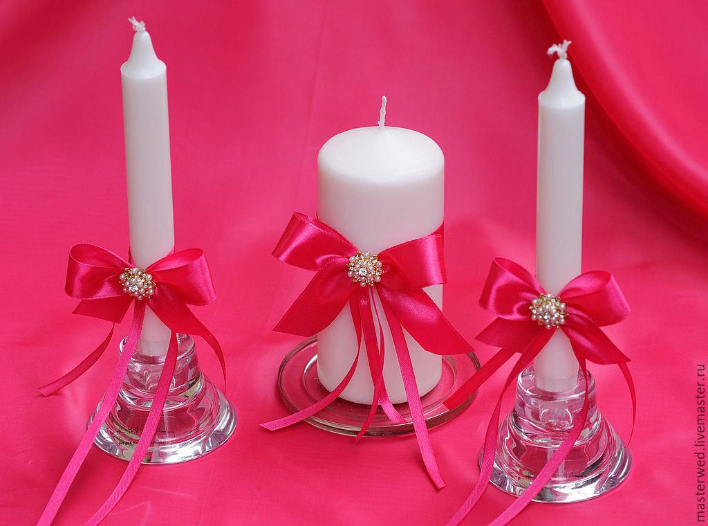 свадебные свечи дизайн декор