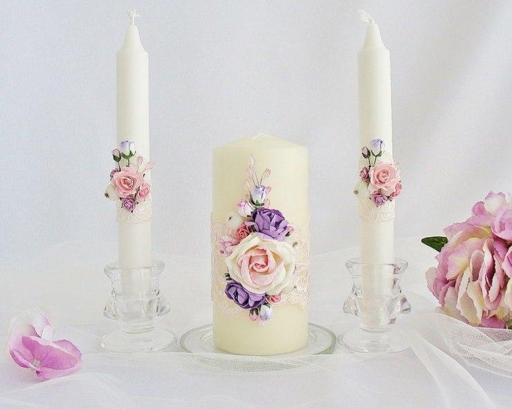 свадебные свечи своими руками фото