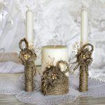 свадебные свечи своими руками идеи