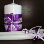 свечи на свадьбу фото декора