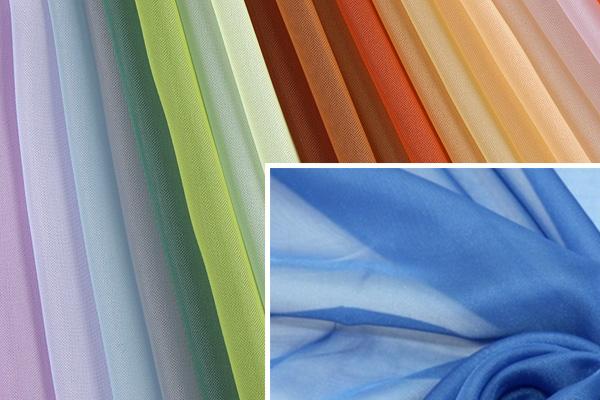 Переплетение волокон в вуали разного цвета