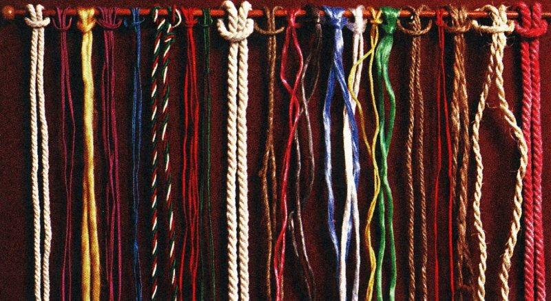 Нитки и веревки для плетения шторы в технике макраме
