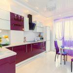 Сиреневый цвет в дизайне кухни