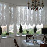 Французские шторы из прозрачной вуали