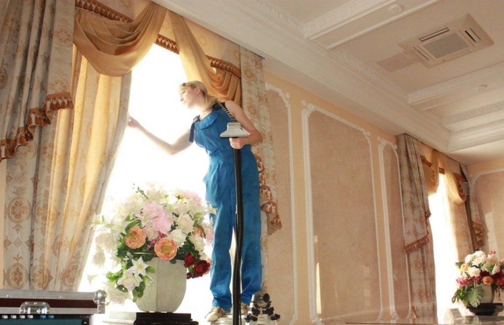 химчистка штор на дому