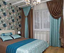яркая отделка спальни