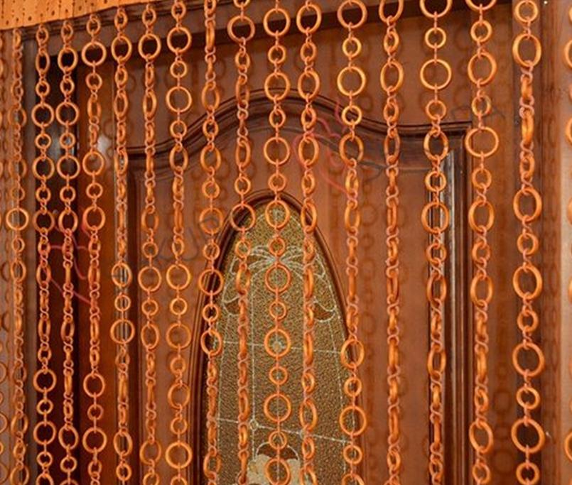 шторы из деревянных колец